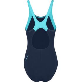 speedo Boom Splice Muscleback Costume da bagno Donna, navy/aquasplash